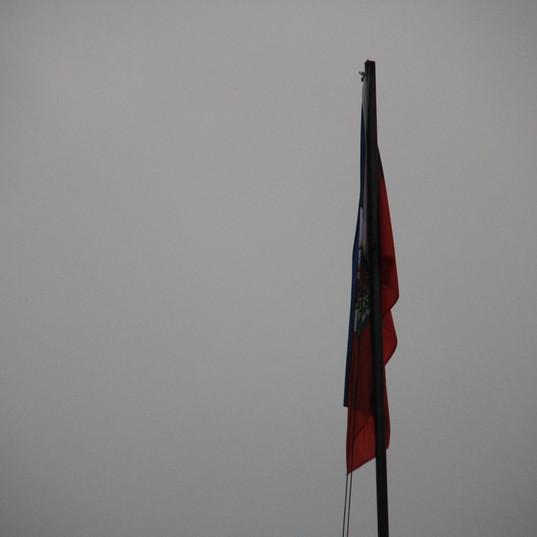 Deflated Flag on a Gloomy Day