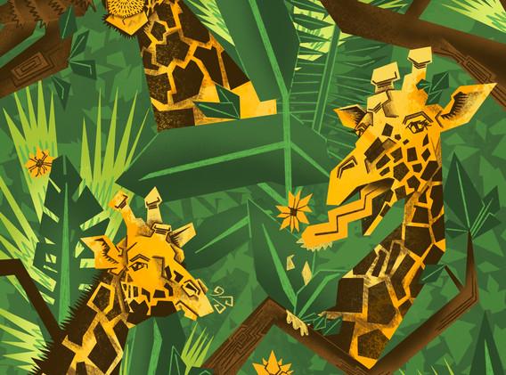 Giraffe Print A2