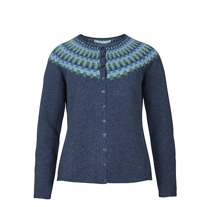 Veste chandail Mansted. Pacific soft blue
