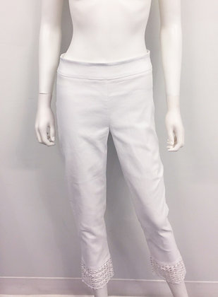 Pantalon Charlie B 5140 Blanc