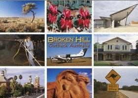 Broken Hill Outback Australia (9 scene) Postcard