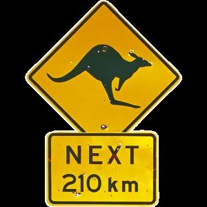 Kangaroo Road Sign Australia Shape Postcard PC224