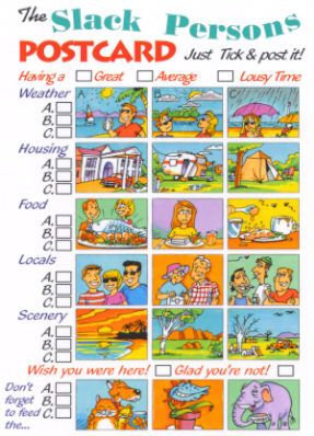 The Slack Persons Postcard