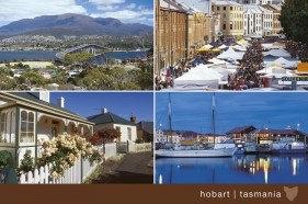 Hobart Tasmania 4 scene Postcard PC264