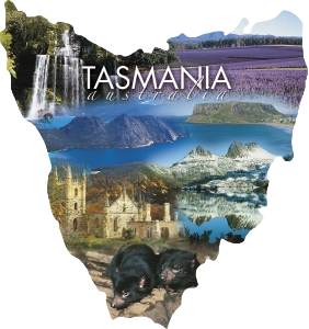 Tasmania Australia Shape Postcard PC220