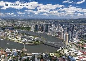 Brisbane Australia Aerial View