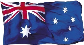 Australian Flag (Shape Postcard) PC191