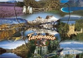 Tasmania (Montage) Postcard PC263