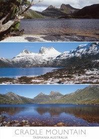Cradle Mountain Tasmania Australia (3 scene) Postcard PC270