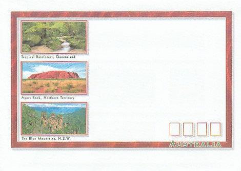 AE1 Australian Scenes envelope front