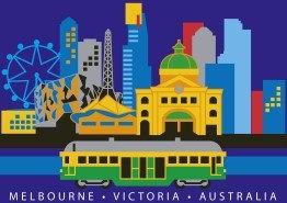 Melbourne Victoria Australia Icons (Retro) PC232