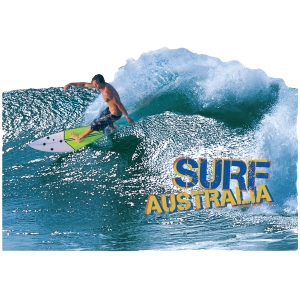 Surf Australia Shape Postcard PC217
