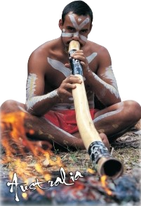 Aborigine and Didgeridoo Australia Shape Postcard PC188