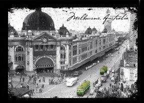 Melbourne Australia Black and White Vintage