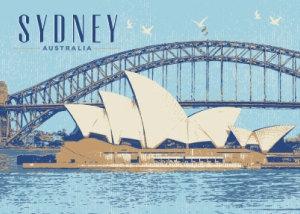 Sydney Australia Vintage (Horizontal) PC176
