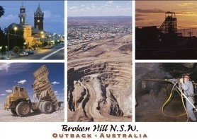 Broken Hill N.S.W. Outback Australia (5 scene) Postcard PC260