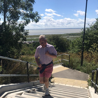 Simon stair running in Southend