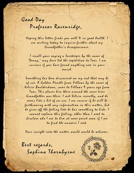 Ep22 - Letter to Durana Ravenridge