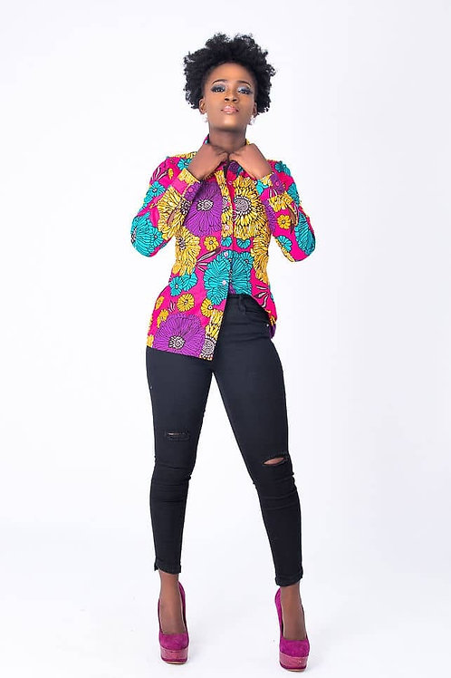 Womens Wax print blouse