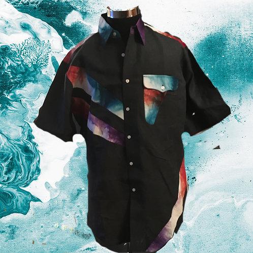 Men's Hand Dyed Linen Summer shirt