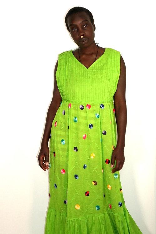 Custom Women's Hand Embroidered Dress