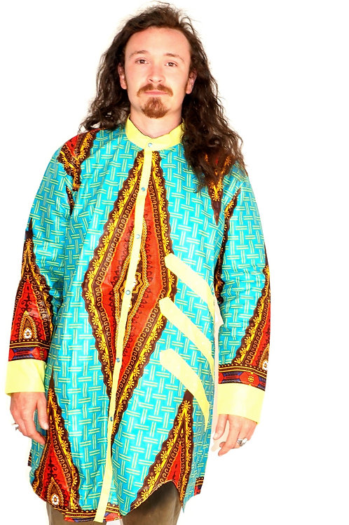 Men's Turquoise Wax Tunic
