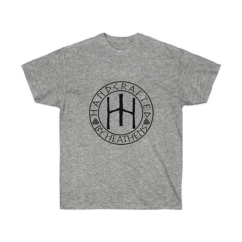 Handcrafted by Heathens black logo T-shirt