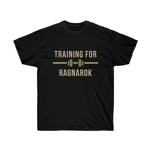 Training for Ragnarok T-shirt