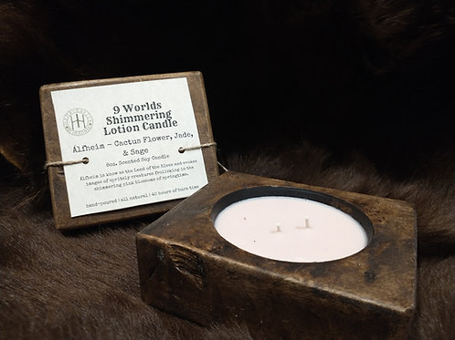 9 Worlds Shimmering Lotion Candle / Alfhiem