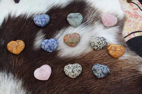 Semi precious stone hearts