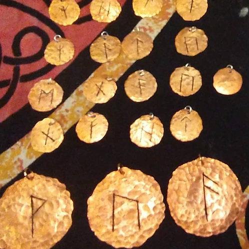 Copper Rune Pendants