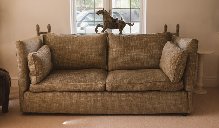 Knoll Sofa Recover With Bespoke Side Cushions