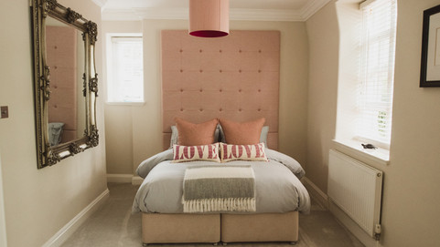 Bespoke Headboard with Plumptious Scatter Cushions