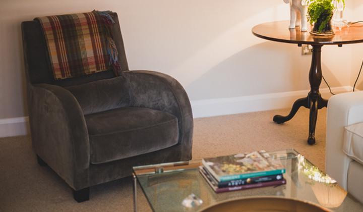 Modern Armchair Recover in Velvet