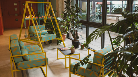 Lush Cosmetics Office Furniture Using 100% Recycled Fabric