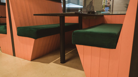 Lush Cosmetics Bench Seating for Team Areas and Meeting Spaces