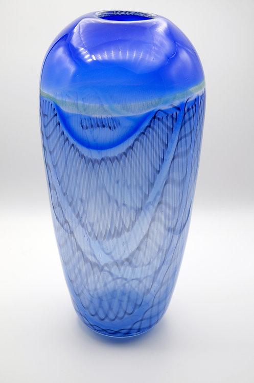 blaue Vase von Hubert Hödl