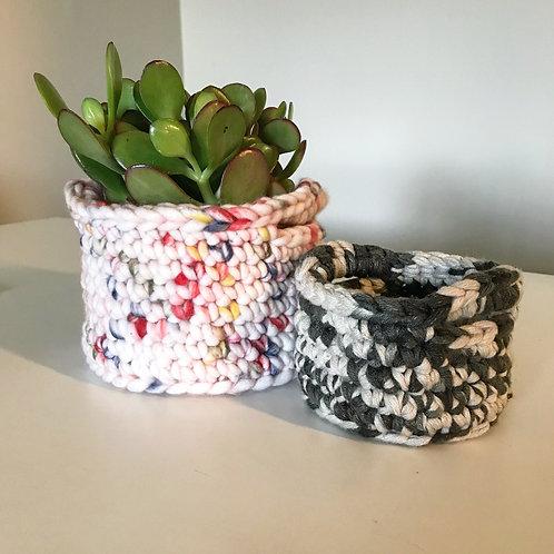 Crochet basket - small