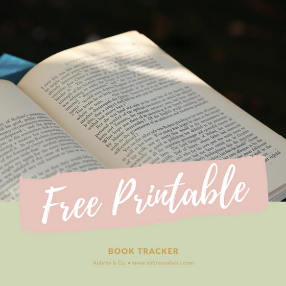 Free Printable: Book Tracker