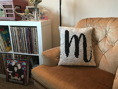 Crochet Monogram Pillow
