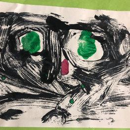 Green Eyed Cat by Hazel D