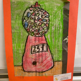Candy Jar (Painted Collage) by Gavin R.