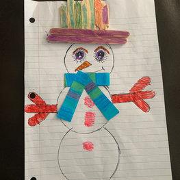 Winter Snowman by Caitlynn P.