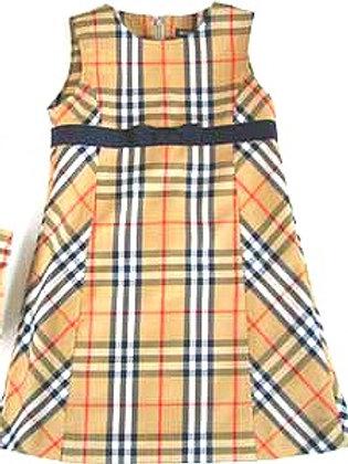 スカートを子供用ワンピースにリメイク