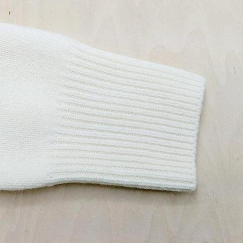 編み目がリブ編みのニットの袖丈詰め(作業後)