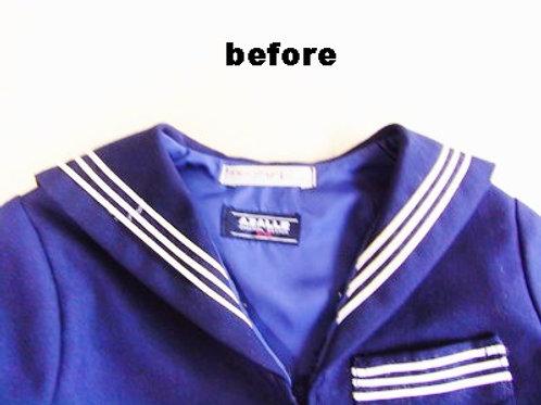 セーラー服の白線交換 作業前