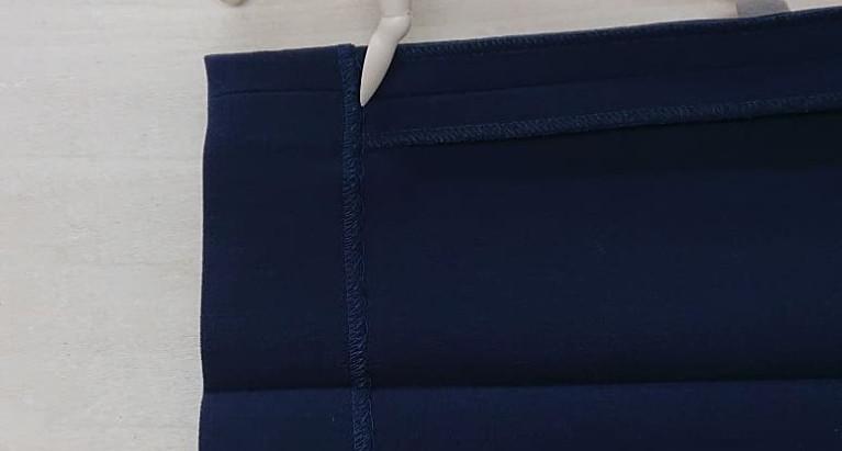 シングル裾のパンツの丈詰めについて