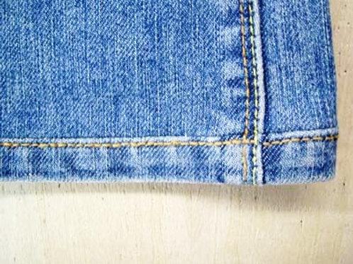 パンツ 丈詰め (デニム裾ダメージ部分残し) 表