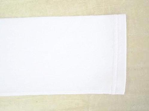ニット、カットソーのダブルステッチ仕上げの袖丈詰め(作業後)