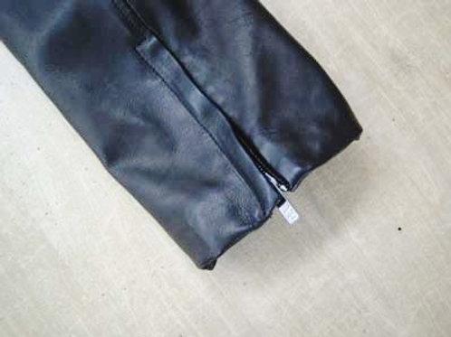 ジャケット レザー 袖丈詰め(ファスナー付き)